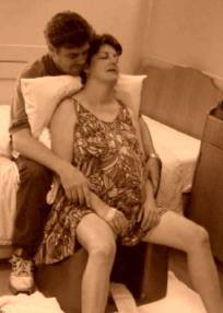 Woman relaxed on Birthing Seat