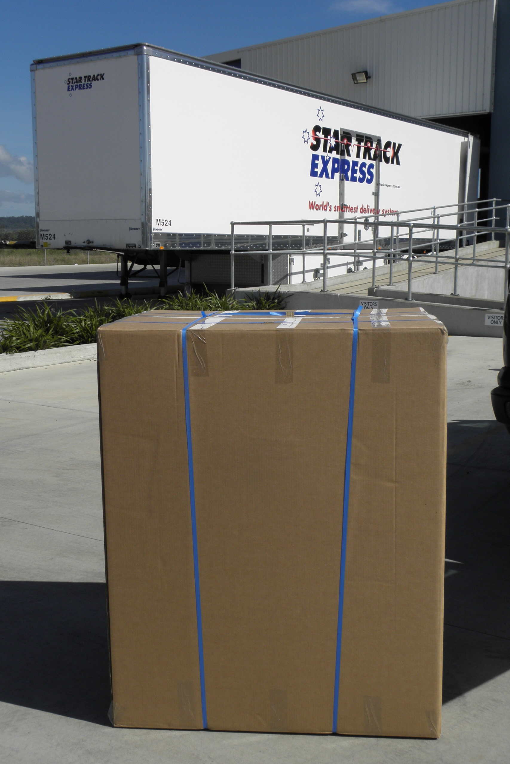 Image of carton ready to be shipped